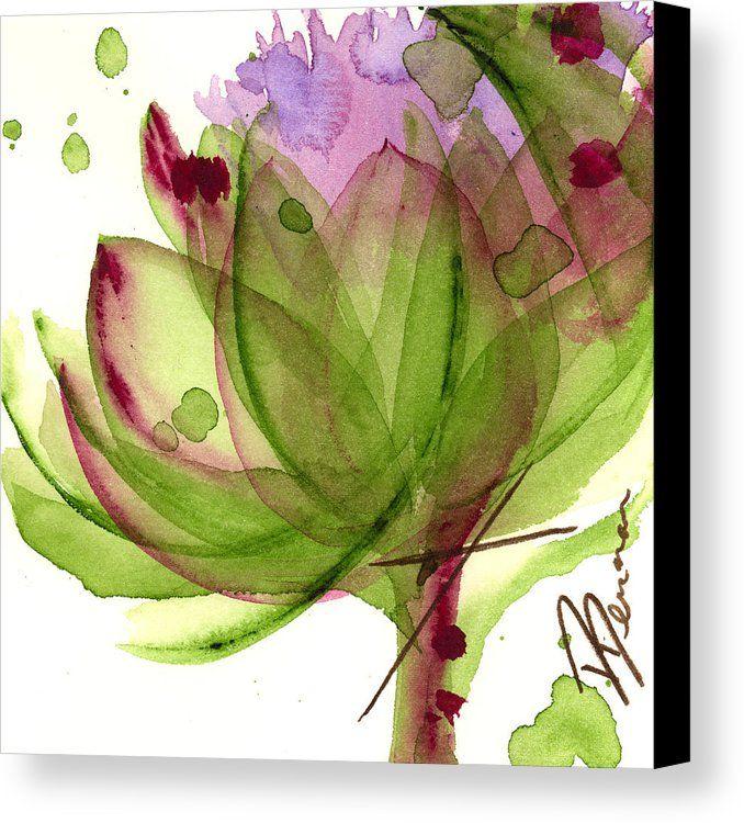 Artichoke Flower Canvas Print Canvas Art By Dawn Derman