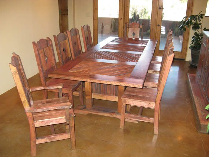 Charming Farm Style Dining Table | Ar Arizona Ranch Style Dining Table