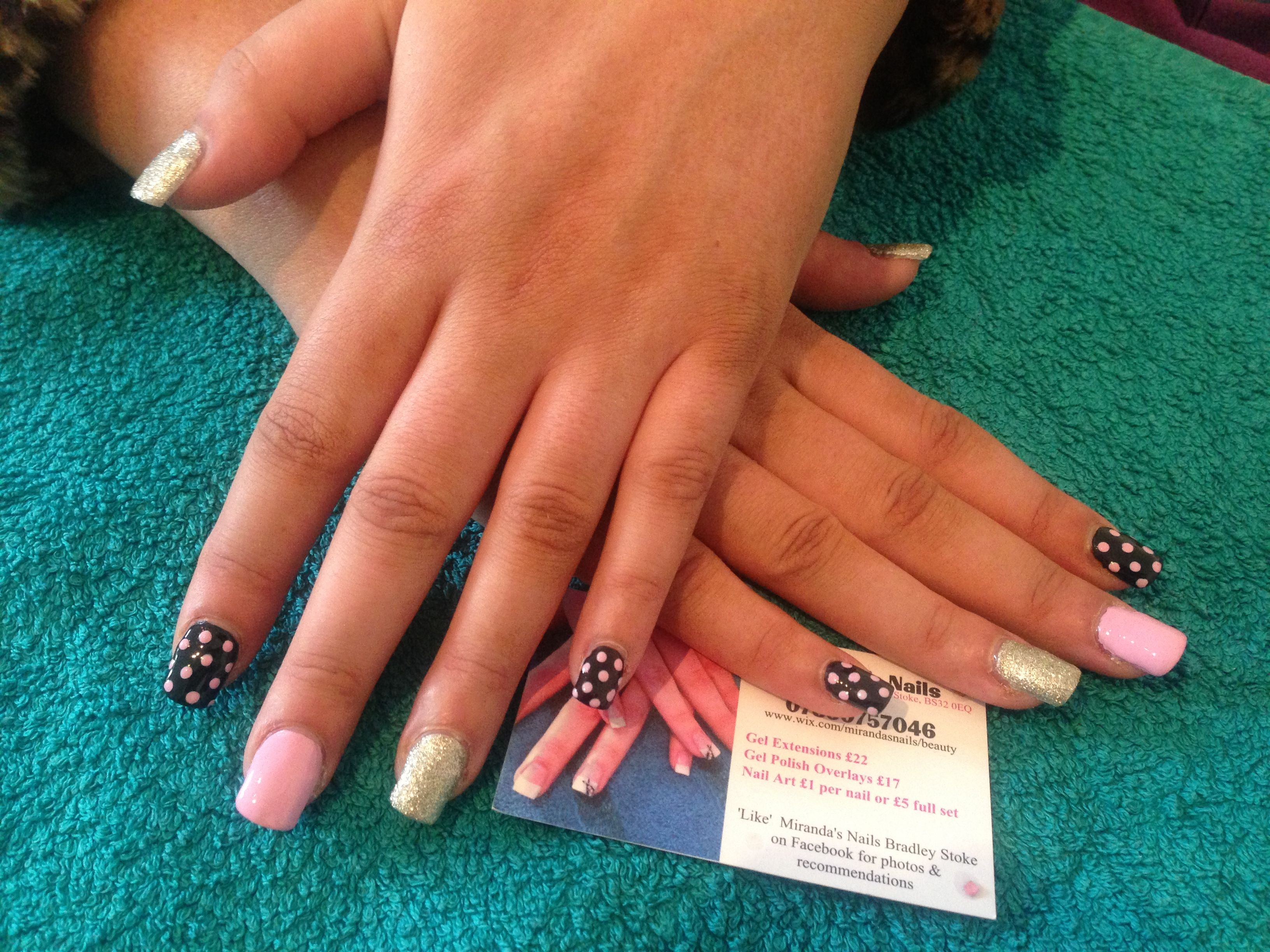 Acrygel Gel Nail Extensions With Freehand Nailart 25 3 13 Gel