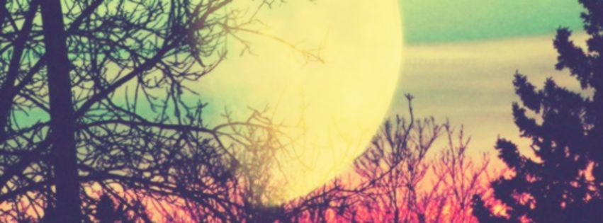 Big Moon To Nice View Facebook Cover Photo
