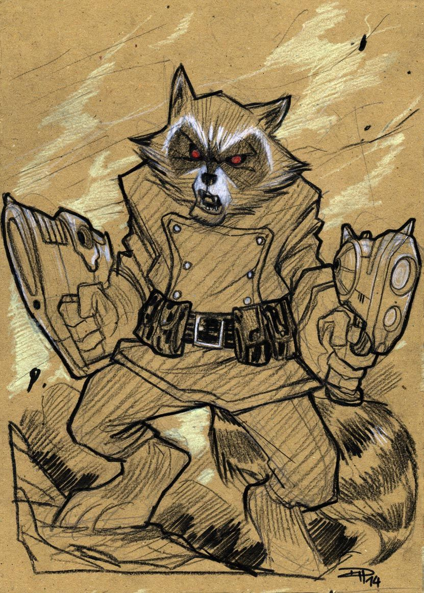 Rocket Racoon by DenisM79 on deviantART