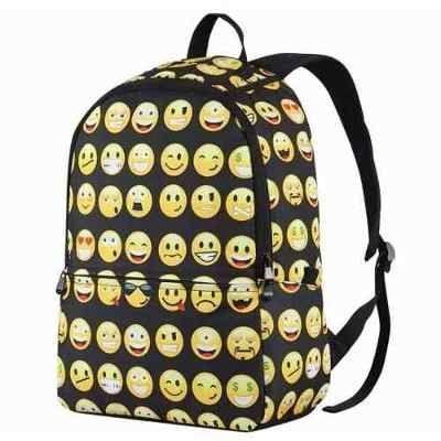 70c70e1454b Mochila Escolar Adolescente Negra De Emoticones -   699.00