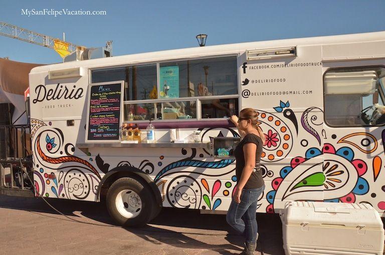 Shrimp food truck during the Nov 7th San Felipe shrimp