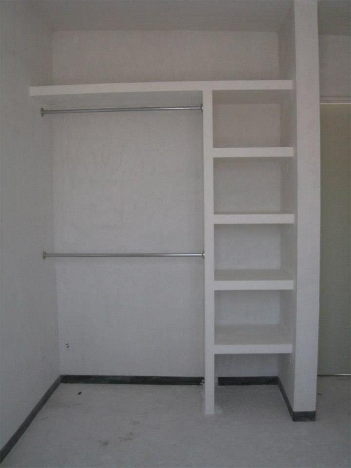 CLOSET DE TABLAROCA  Buscar con Google  Interiores en 2019  Closet para dormitorio Closet de tablaroca y Closet sencillos