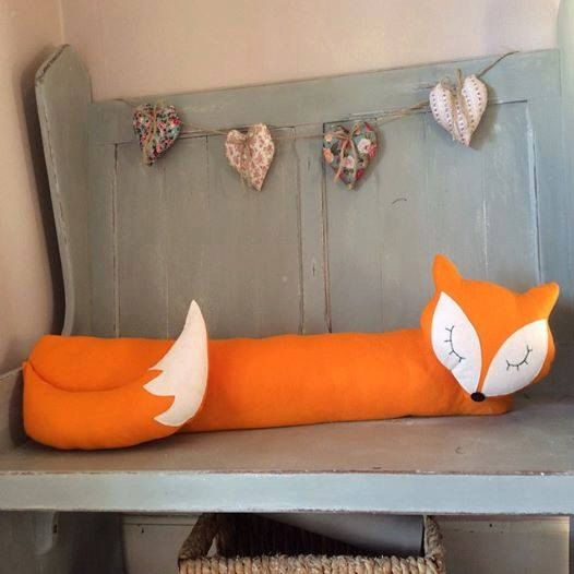 Felt Fox Draught Excluder by Florenceandthefox on Etsy