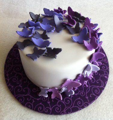 Wondrous Purple Blue Lavender Violet Periwinkle Butterflies Funny Birthday Cards Online Ioscodamsfinfo