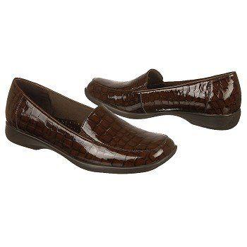 Trotters Jenn Shoes (Dark Brown Croco) - Women's Shoes - 10.0 N