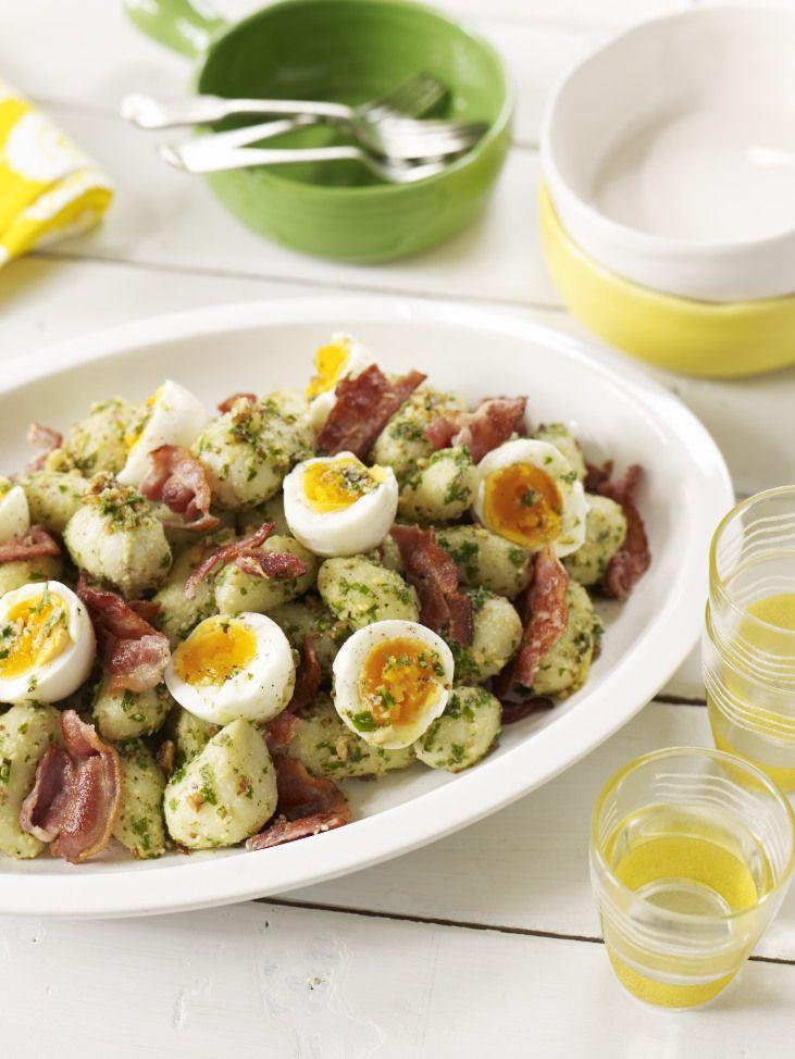 New Potato, Soft Boiled Egg and Crispy Bacon Salad