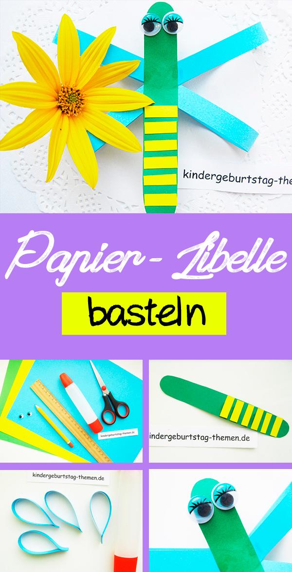 Hübsche Papier Libelle Mit Den Kindern Basteln