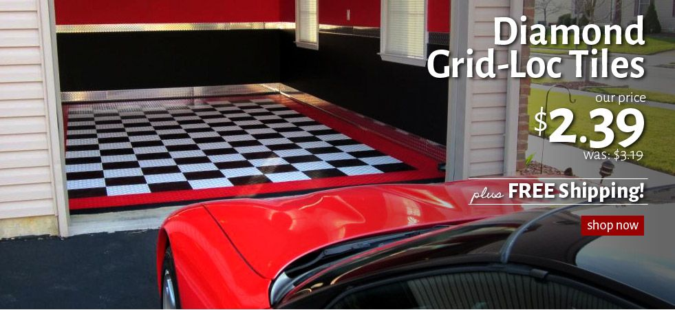 Garage Flooring Inc – Modular Garage Tiles, Interlocking Flex Floors, Mats, Rolls, & Pads.