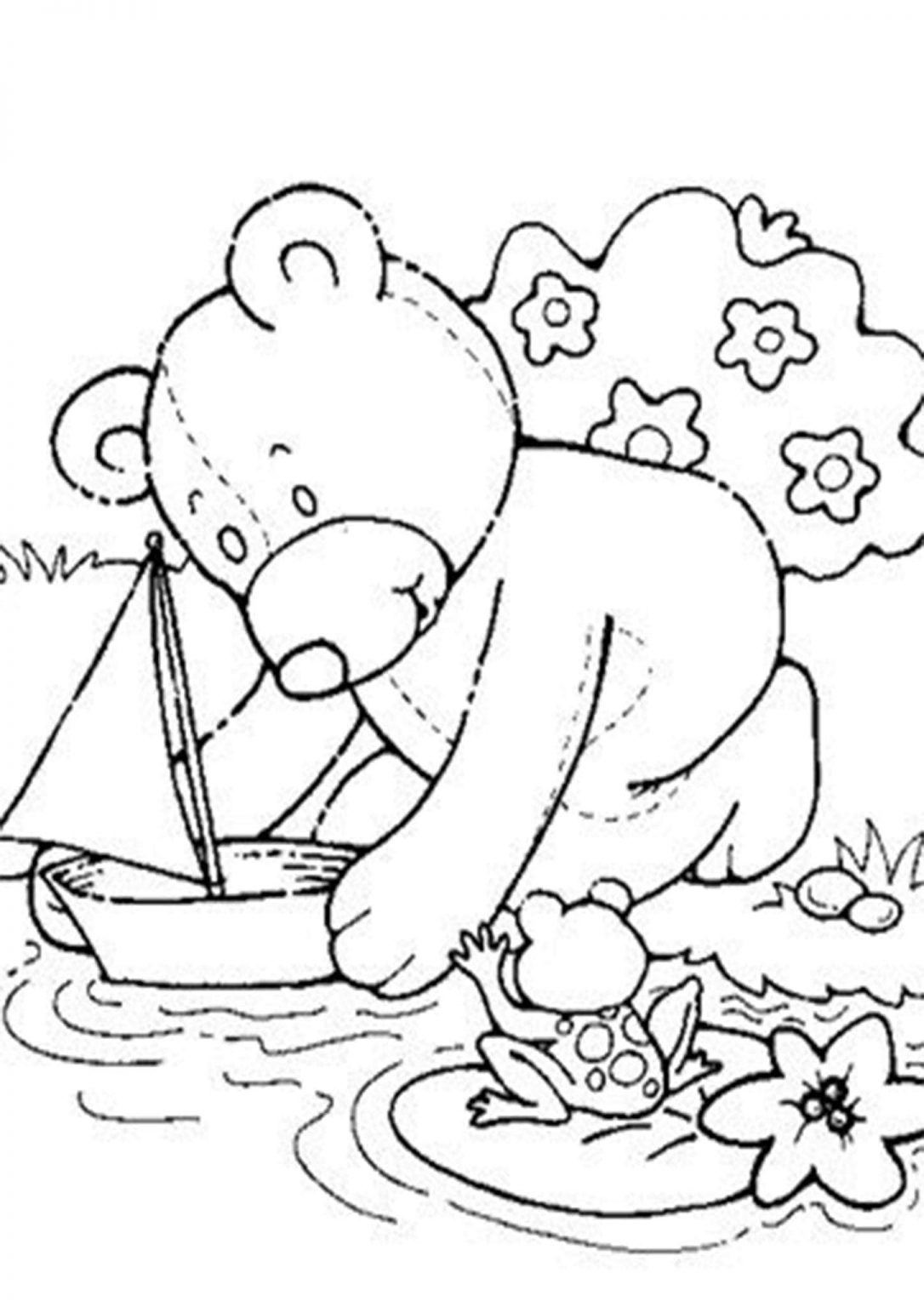 Free Easy To Print Bear Coloring Pages Tulamama Teddy Bear Coloring Pages Bear Coloring Pages Dinosaur Coloring Pages