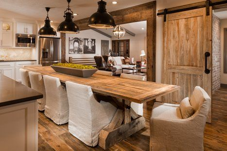 Photos by Jeremy Mason McGraw Rustic Dining Room Design Dining