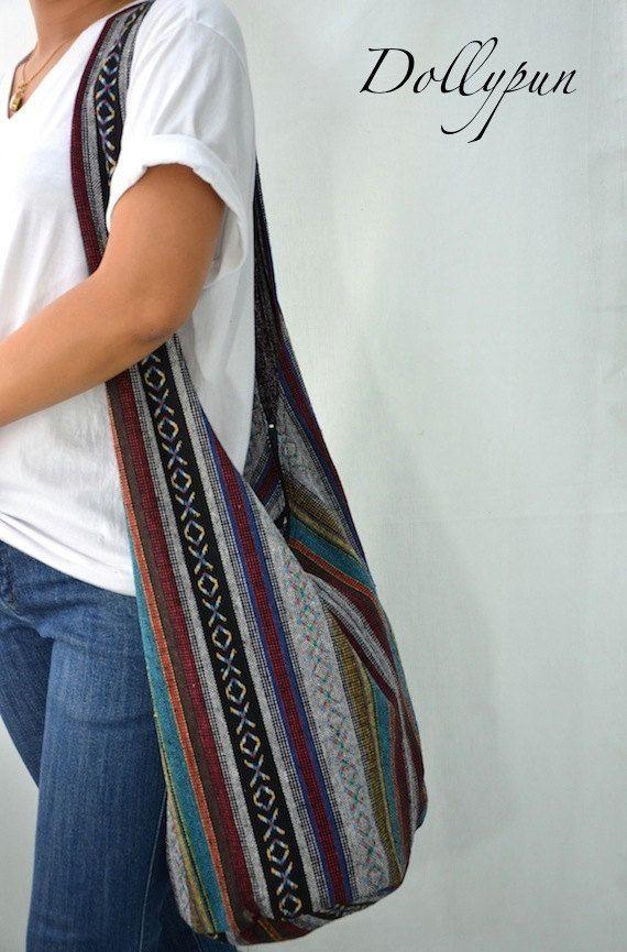 9591241b87ef0 Woven Sling Bag Ethnic Boho Bag Hobo Bag Hippie Bag Cotton Crossbody ...