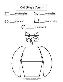Math Ideas For Owl Theme Owl S Owls Lesson Plans Owl Theme Fall Lesson Plans