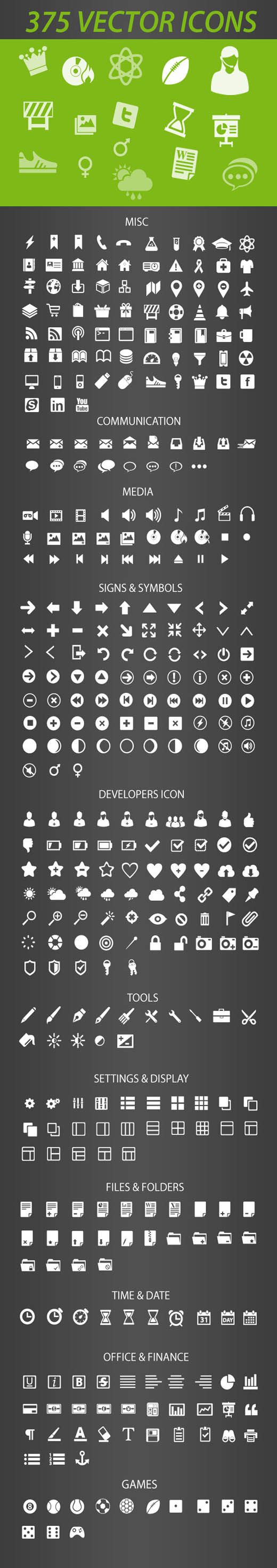 Free Icon Pack 20 Retina Display Ready Icons   Free Vector Site ...