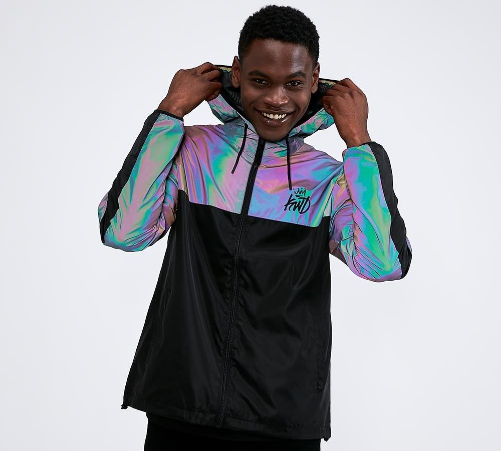 Kings Will Dream Cayton Reflective Windbreaker Jacket Iridescent Reflective Footasylum Mens Puffer Jacket Smart Casual Menswear Mens Fashion Casual Summer [ 900 x 1000 Pixel ]