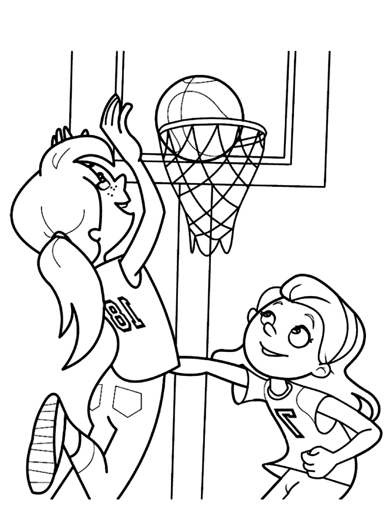 Free Basketball Coloring Page To Download From The Gallery Basketball Baseball Coloring Pages Bunny Coloring Pages Coloring Pages For Kids