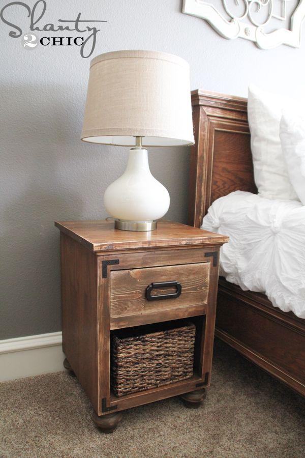 Diy Nightstand With Bun Feet Diy Furniture Bedroom Diy Nightstand Free Furniture Plans