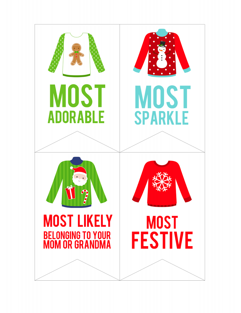 Christmas Party Award Ideas Part - 45: Ugly Sweater Party Awards. Christmas ...