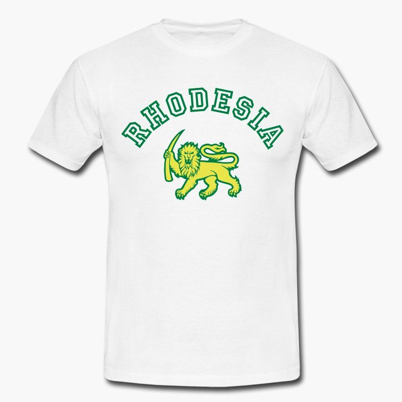 "Remember Rhodesia? Known as ""Zimbabwe"" nowadays. Keep the memory of Rhodesia alive!  https://shop.spreadshirt.fi/revolt-noir/rhodesia-A106415884?noCache=true"