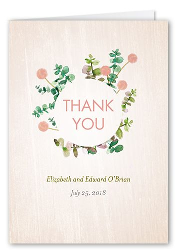 thank you cards lovely floral card square beige products