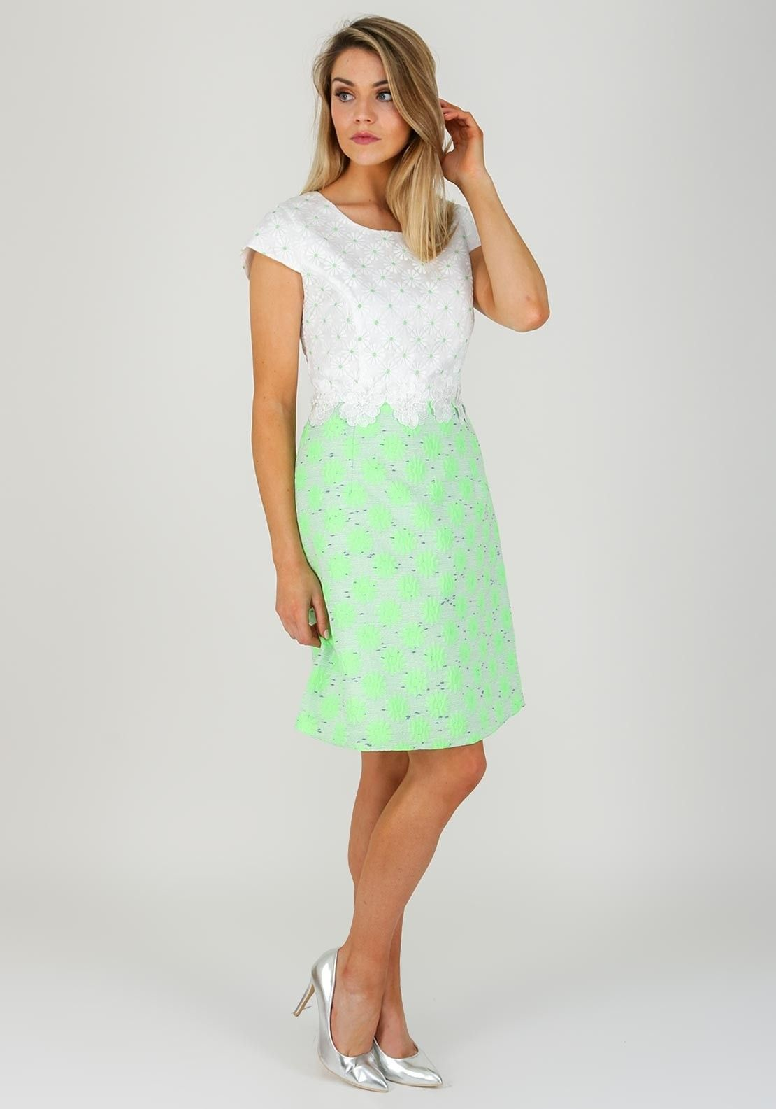 6c0cf990b9a3 Daisy May Daisy Print A-Line Dress, Green & White | Daisy May SS18 ...