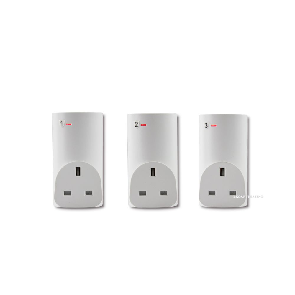 3 Pack Wireless Remote Control Power Outlet Switch Plug Socket Infrared Heater Panel Wireless Socket Infrared Heater Panel Infrared Heater Plug Socket