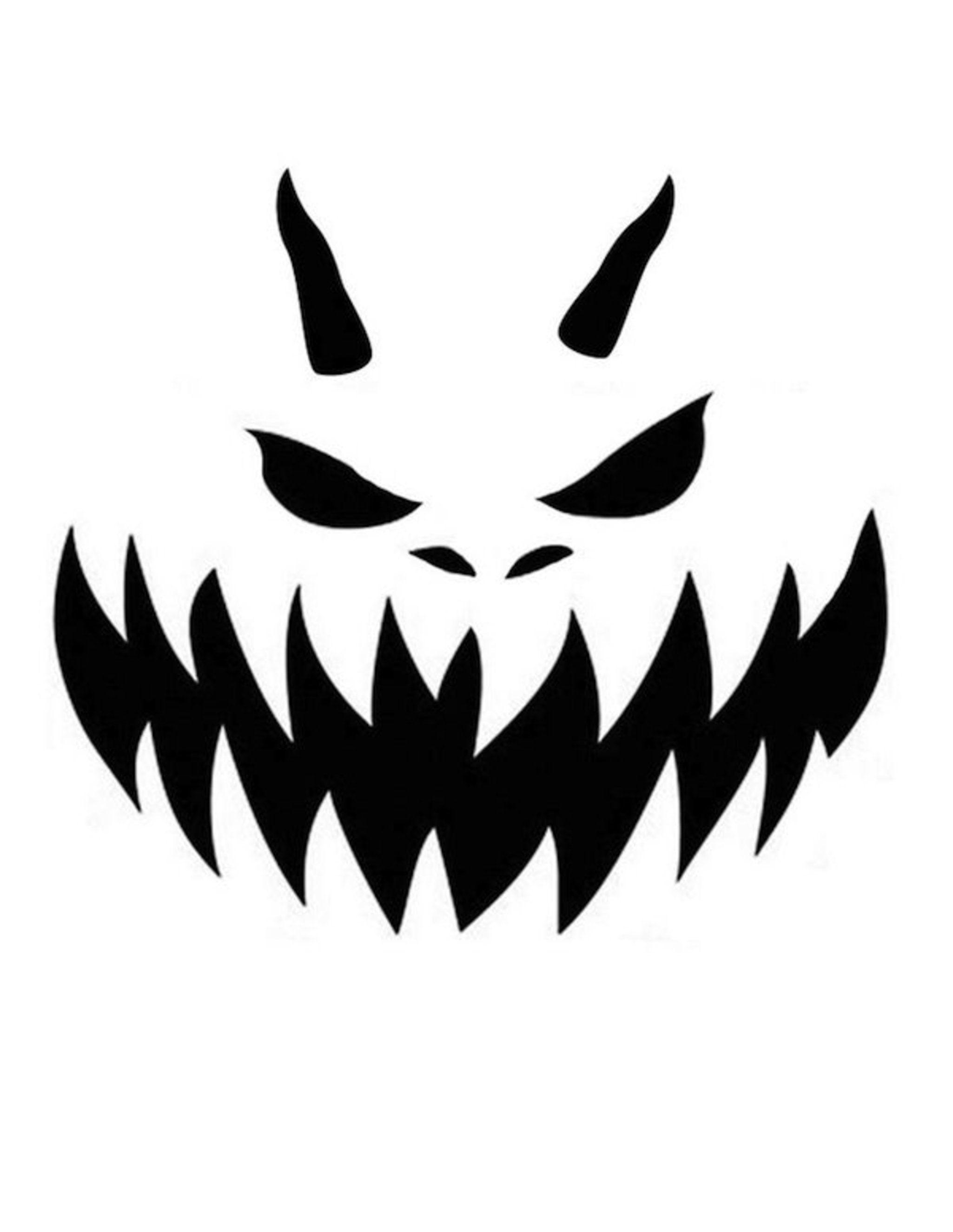 pumpkin template devil  Pumpkin-Carving Templates Galore for Your Best Jack-o ...