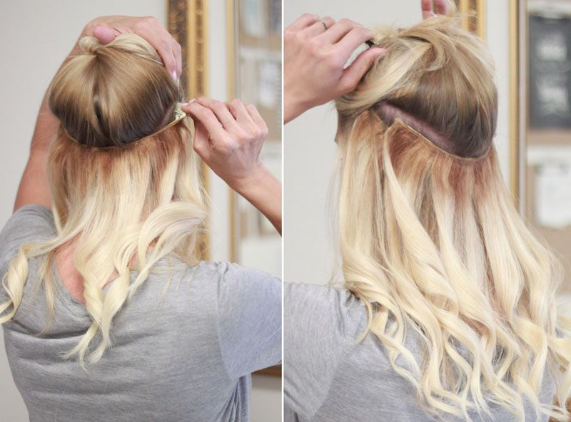 Heidi Powell Hair Secret Halo Hair Extensions And How To Current Hair Styles Halo Hair Extensions Black To Blonde Hair