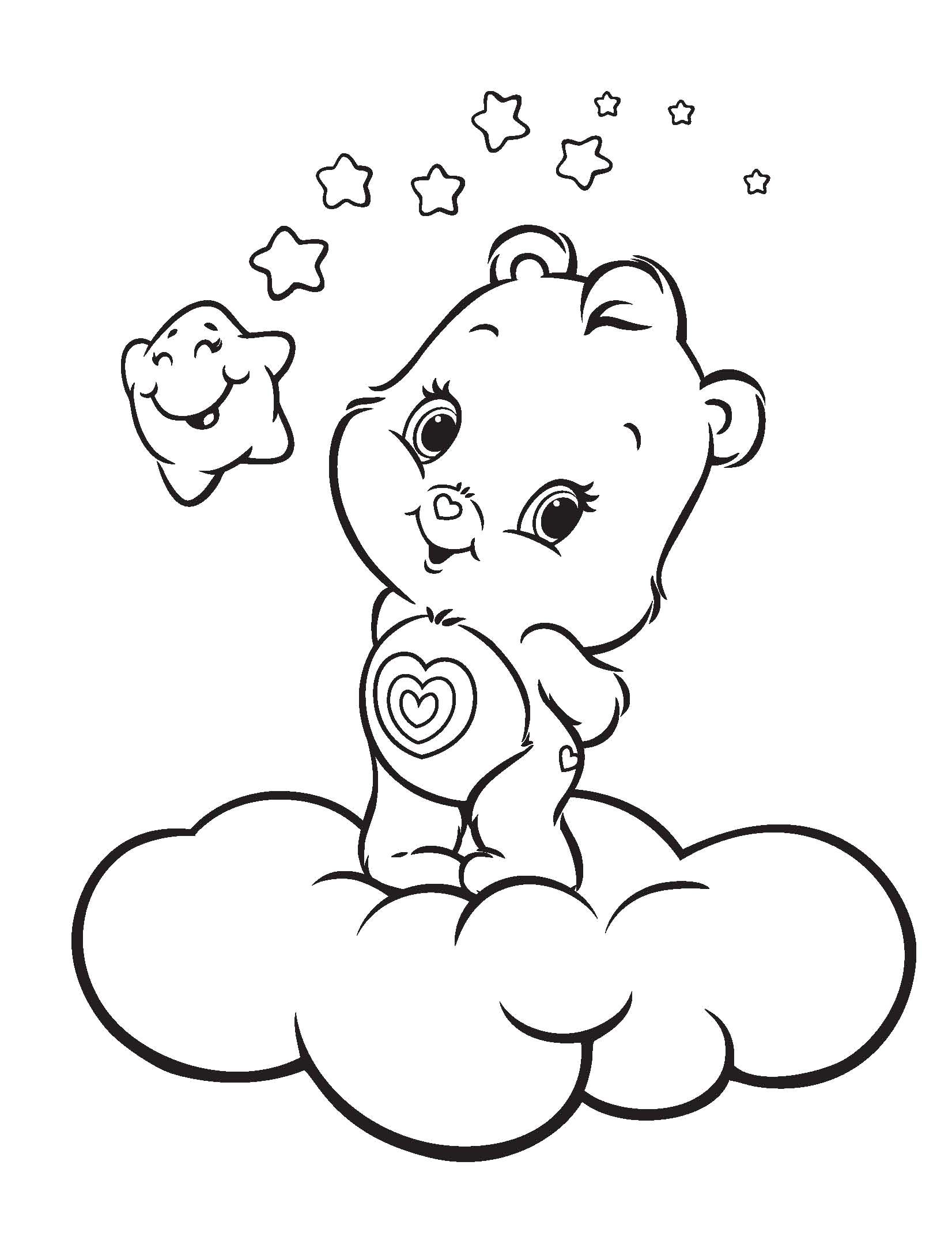 Baby Care Bears Coloring Pages Kids | Coloring | Pinterest | Care ...