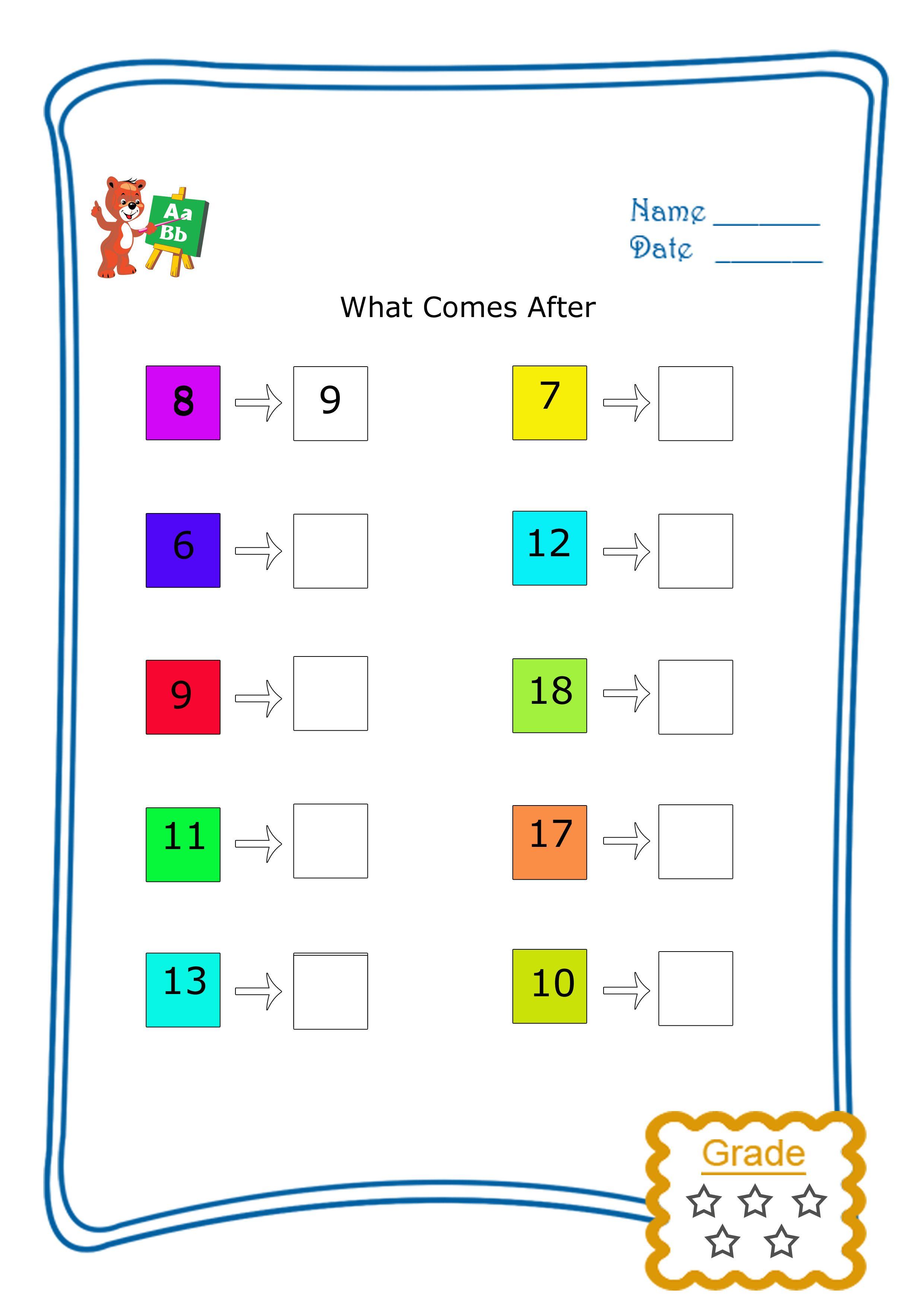 What Comes After 1 25 Reaching Teachers Alphabet Worksheets Kids Math Worksheets English Worksheets For Kids [ 3508 x 2480 Pixel ]