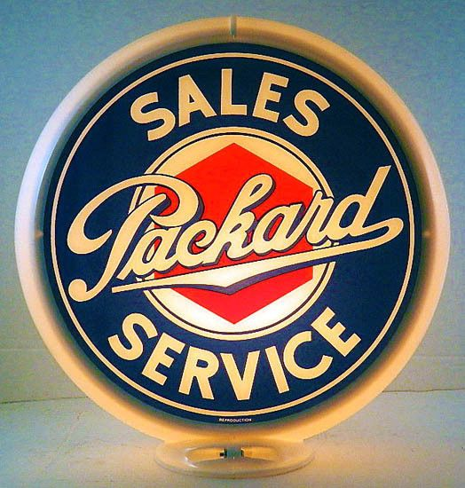 Photo of PACKARD SALES & SERVICE GAS PUMP ADVERTISING GLOBE SIGN G-263  | eBay