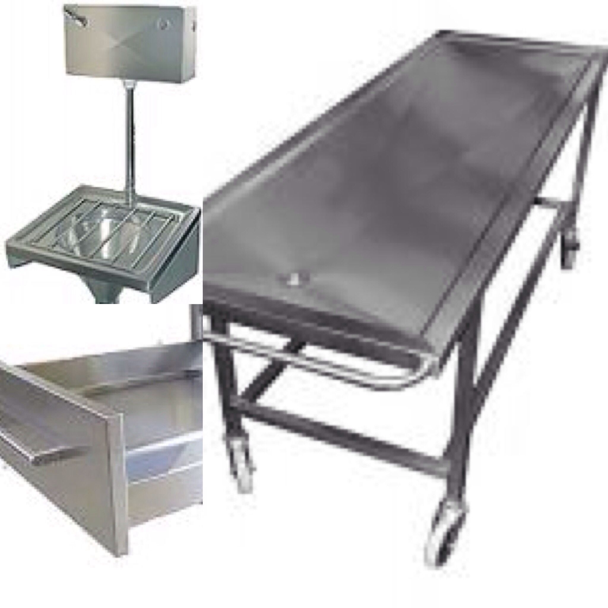 Stainless-steel equipment for use in #hospital #mortuaries or