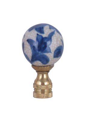 Blue White Porcelain Lamp Finial Lamp Finial Porcelain Lamp White Porcelain