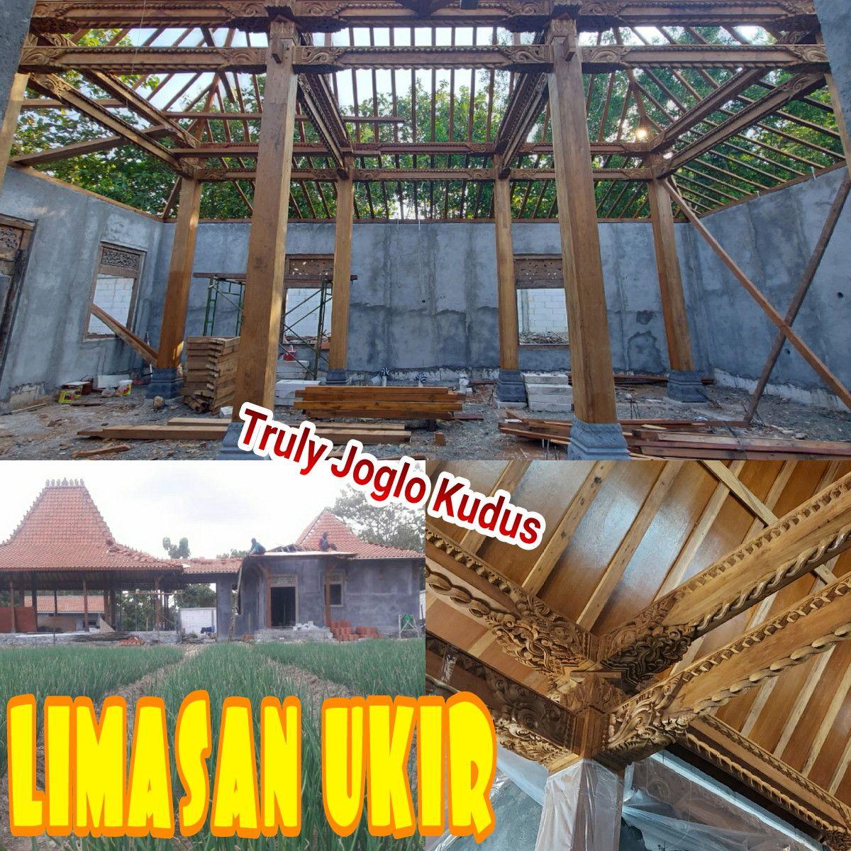 Project Truly Joglo Kudus Bangun Rumah Limasan Ukir Soko 22cm Dan Pendopo Joglo Ukir Soko 20cm Jati Lawas Recycled Di Yogyakarta Kayu Jati Rumah Kayu