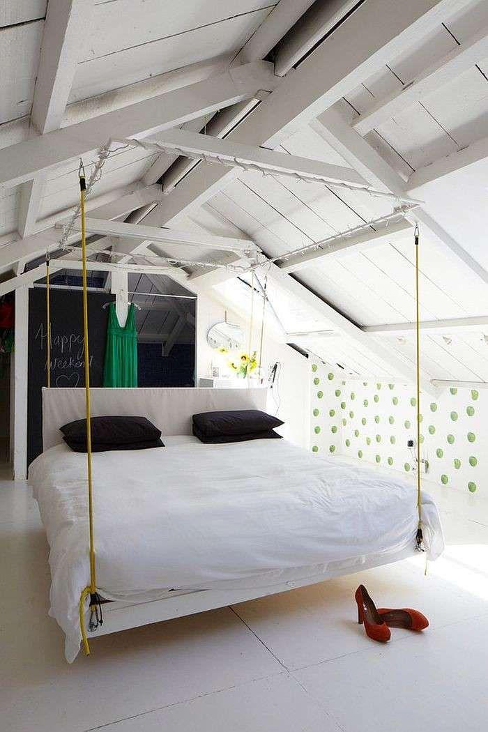 Arredare la camera da letto in mansarda - Arredamento camera in ...