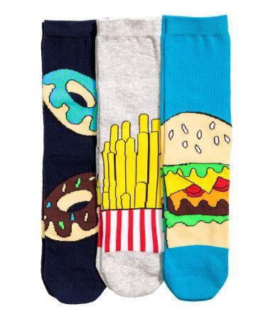 3-pack sokker | Mørk blå | Barn | H&M NO