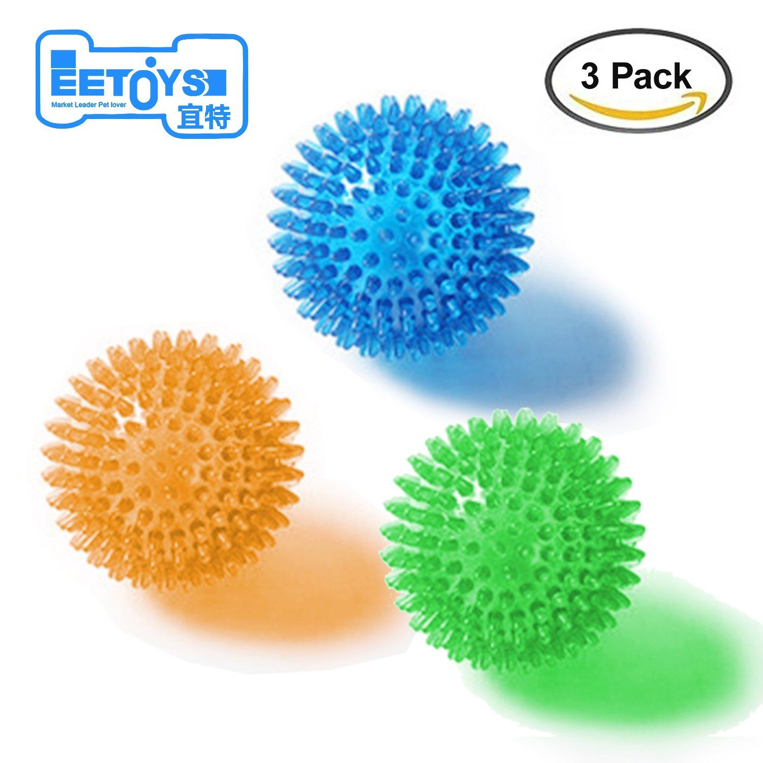 Durable Dog Chew Spike Ball Tpr Materialandsqueaky Dog Toysfor