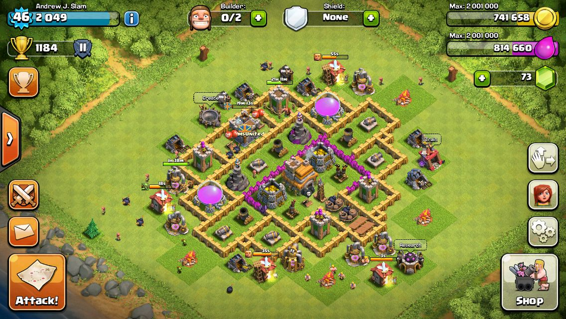 clash of clans town hall 7 war base layout anti dragon