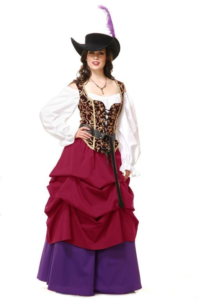 Country Wench Corset Bodice Renaissance Pirate Steampunk ~ Charades Costumes #Charades