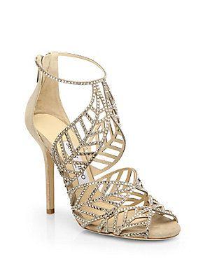 616d3cdb661 Jimmy Choo Kallai Jeweled Suede Sandals (saksfifthavenue.com ...