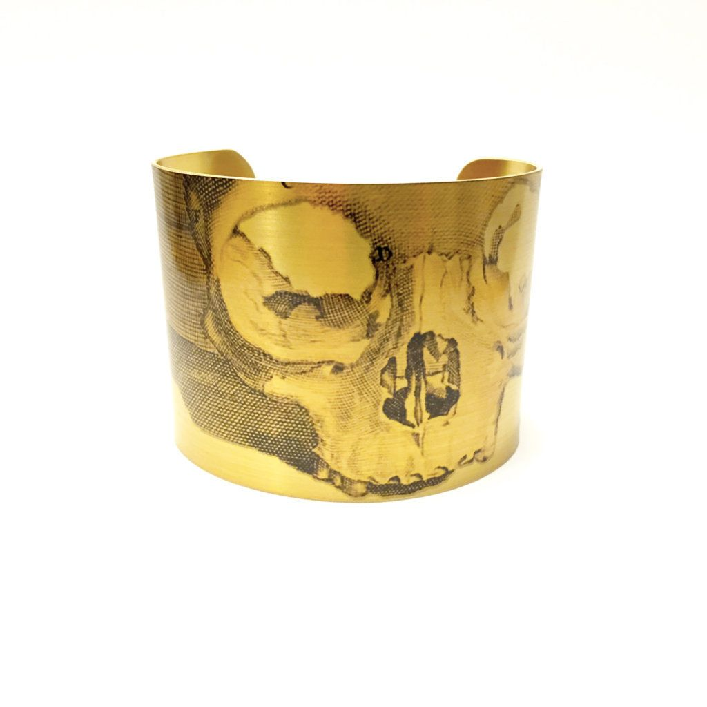 If you're a Da Vinci fan, you'll love this bracelet! https://www.etsy.com/listing/230608454/skull-cuff-bracelet-anatomy-jewellery?ga_search_query=skull&ref=shop_items_search_2
