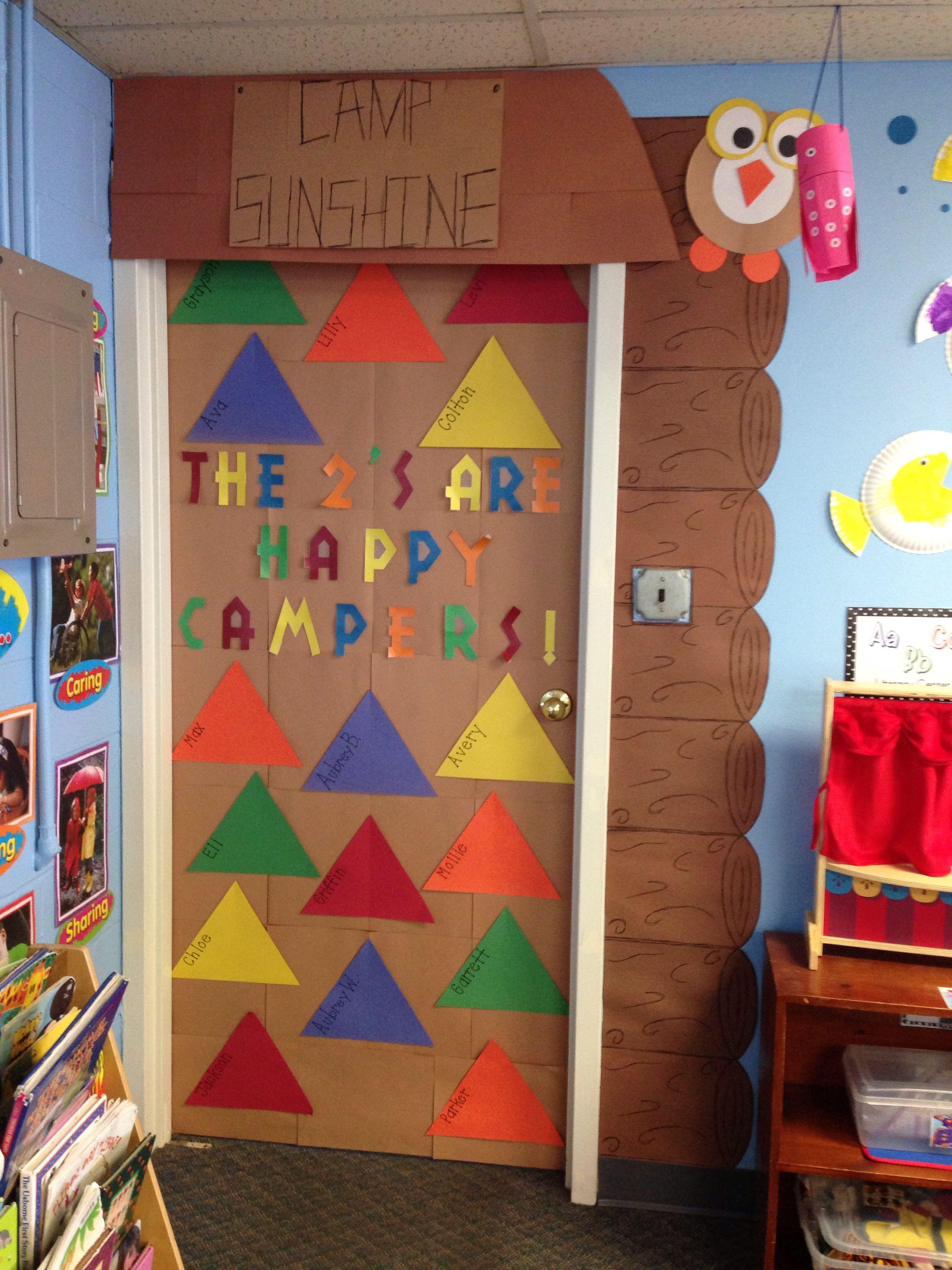 Camping June Classroom Door