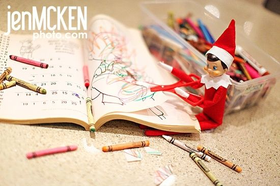 Elf on the shelf #funny photos #funny story| http://justforgagscollections.blogspot.com