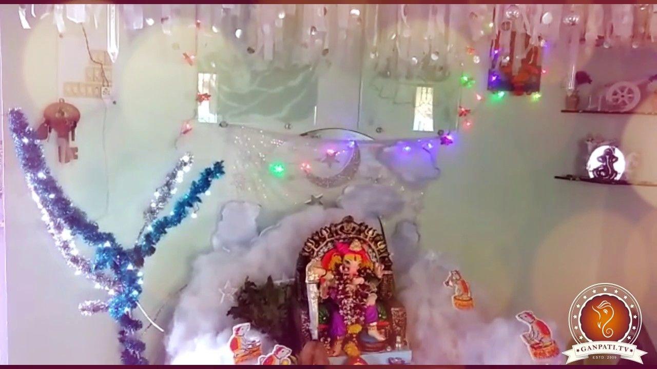 Pratiksha Kedari Home Ganpati Decoration Video 2016 Www Ganpati
