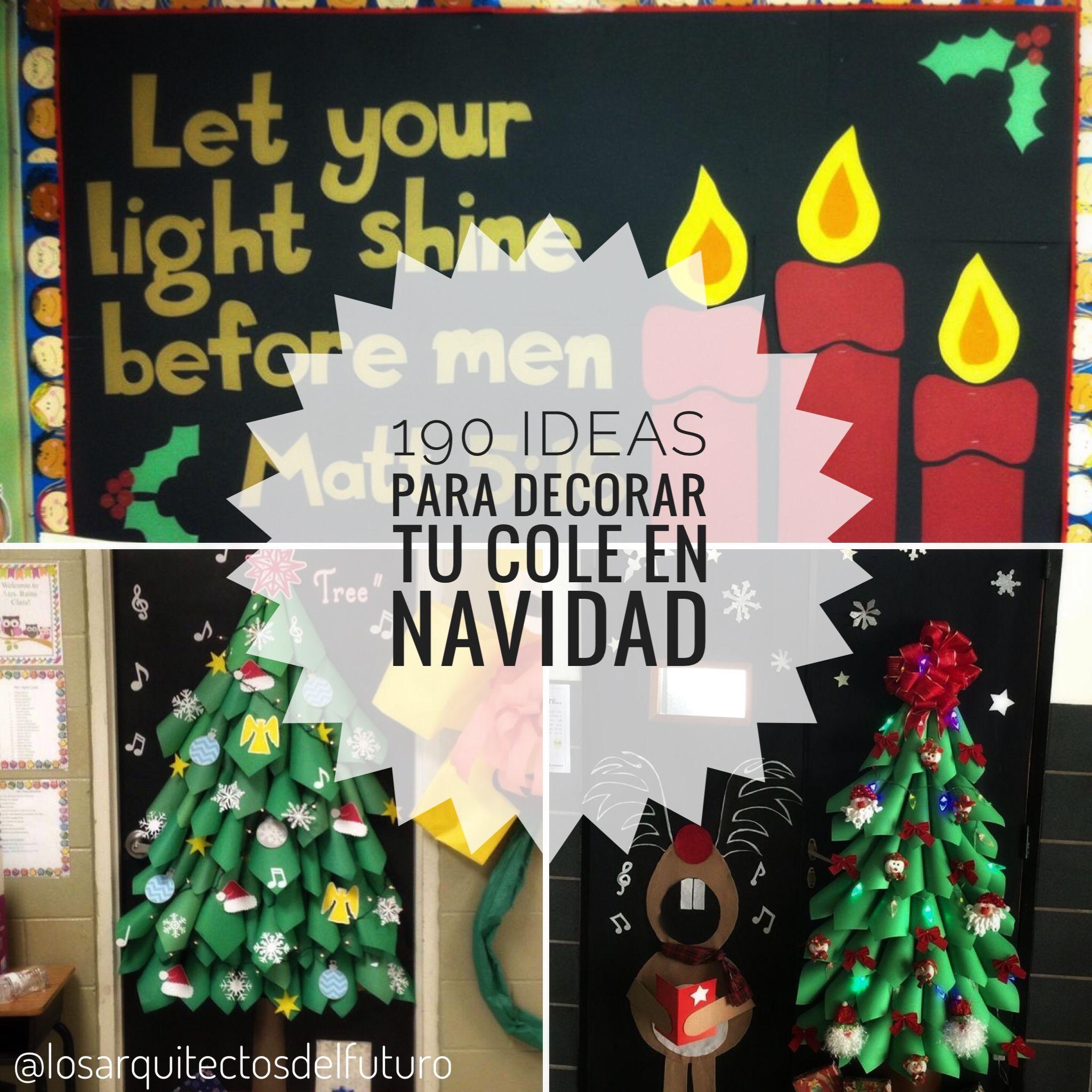 Un montón de ideas para decorar de navidad murales y puertas en tu cole