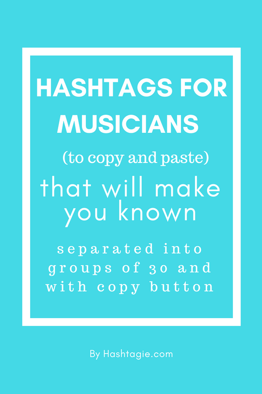 Hashtags For Musicians To Copy And Paste On Instagram To Actually Gain Followers Instagram Music Instagram Hashtags Best Instagram Hashtags