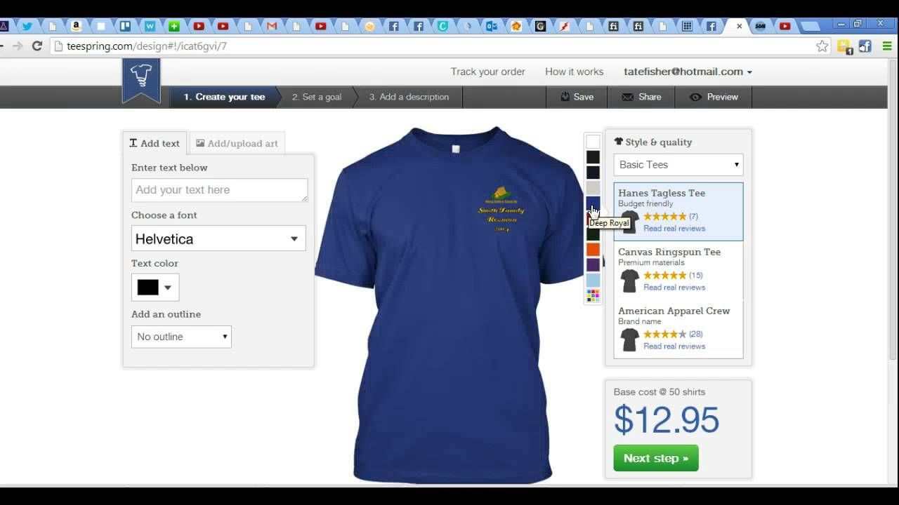 campground manager today tutorial teespring you can run t shirthoodie campaigns for - Campground Manager