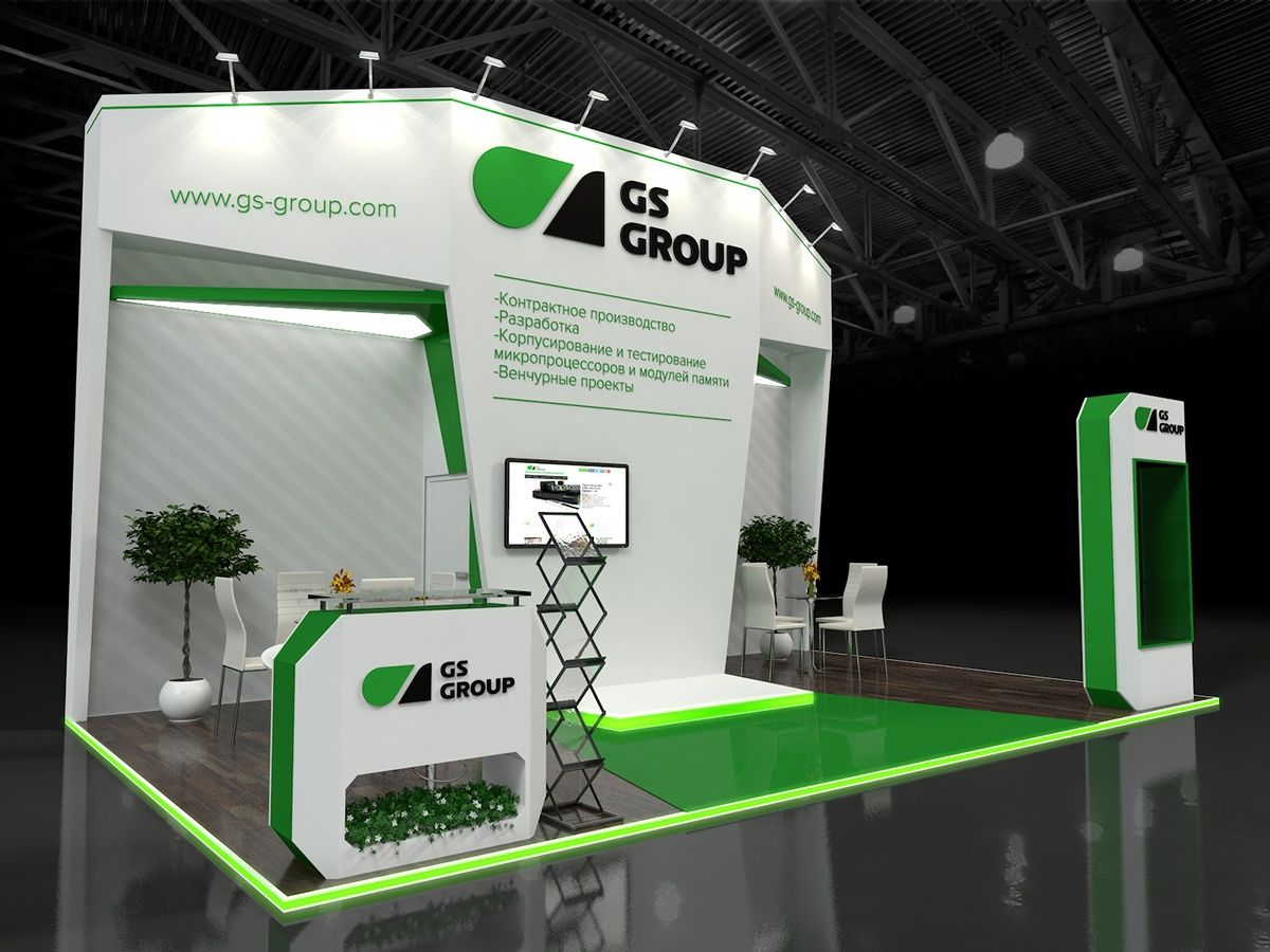 Small Exhibition Stand Lighting : I love a side open stand made interesting with fancy