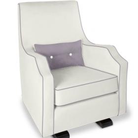 Nursing Chair Mo Ma Glider In Snow Stylish Nursing Chair